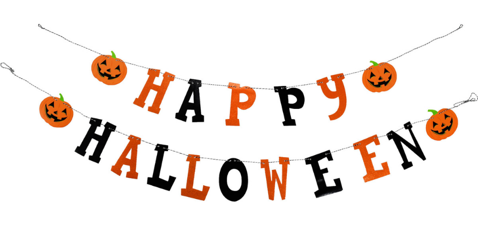 Cartel casero de Halloween