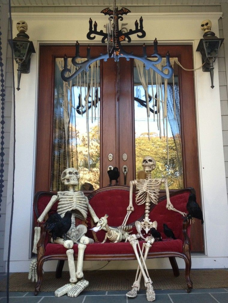 ventanas decoradas con halloween