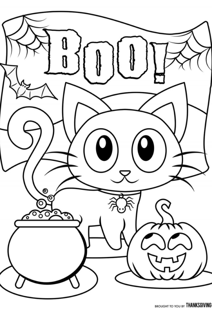 Dibujo de Halloween para colorear 1