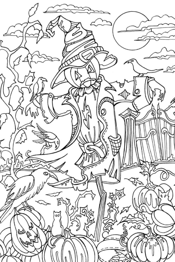 Dibujo de Halloween para colorear dificíl