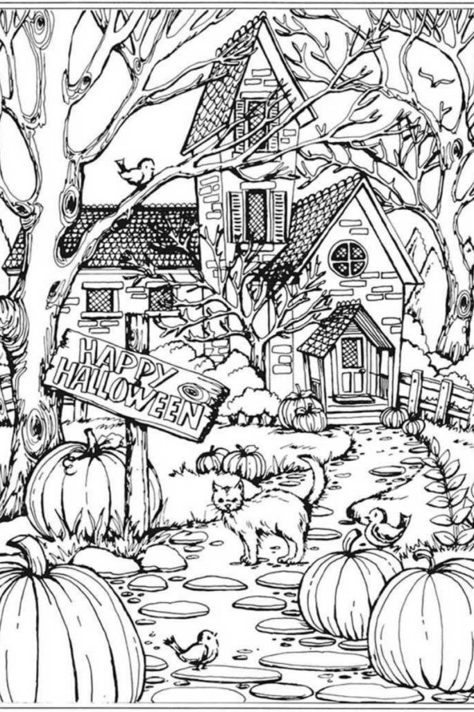 dibujo de halloween para pintar